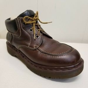 Dr Marten Moc Ankle Boots 3 Eye Brown Leather 8458